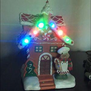 Christmas musical gingerbread light house